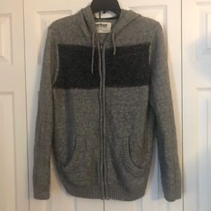 Zip up sweater with hoodie
